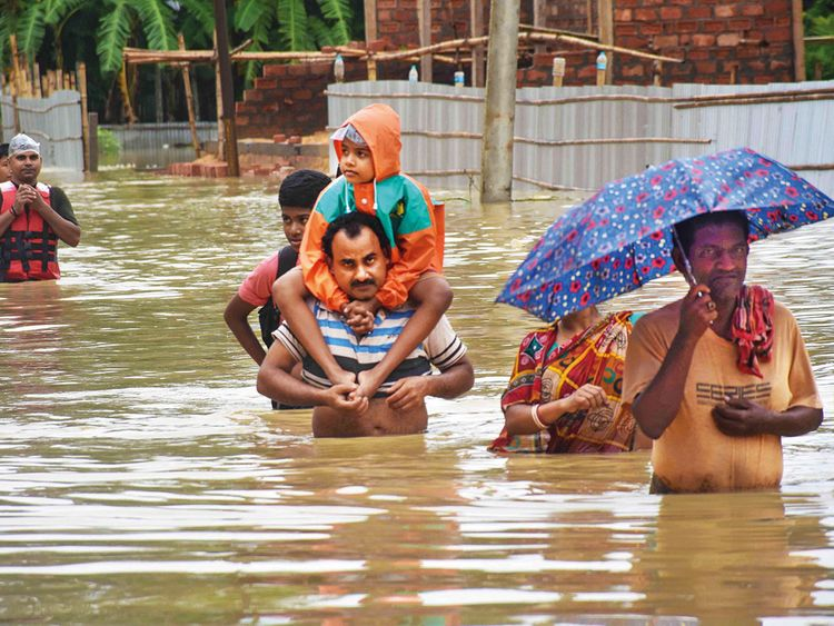 bihar flood, assam flood