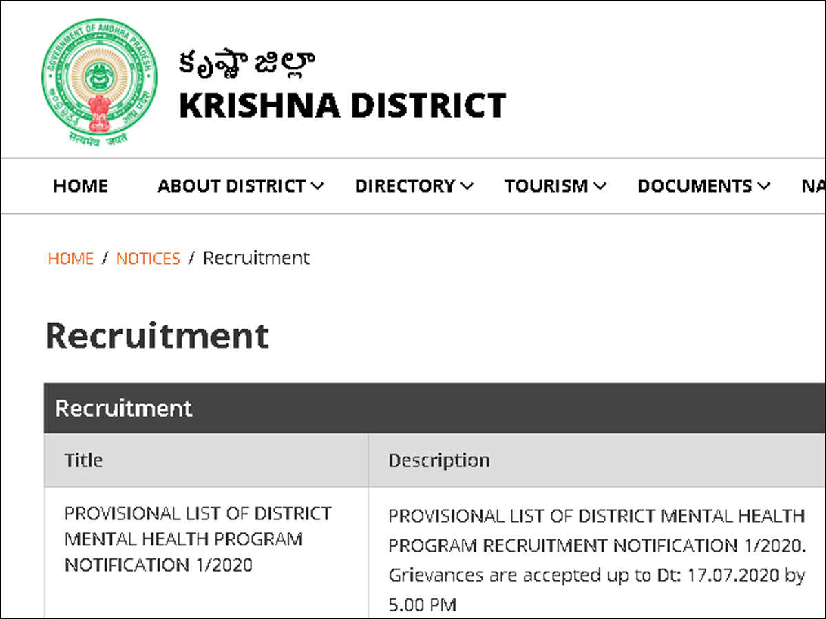 GGH Vijayawada Recruitment 2020