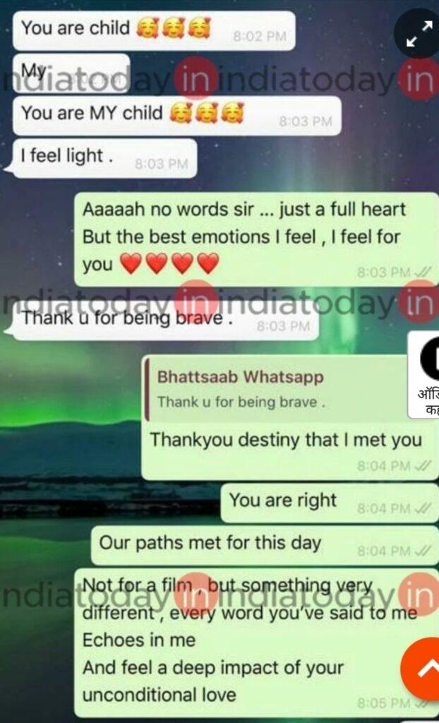 Rhea Chakrobarty and Mahesh bhatt chat