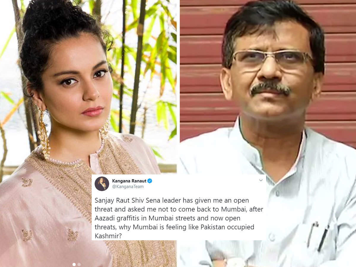 kangana ranaut and sanjay raut