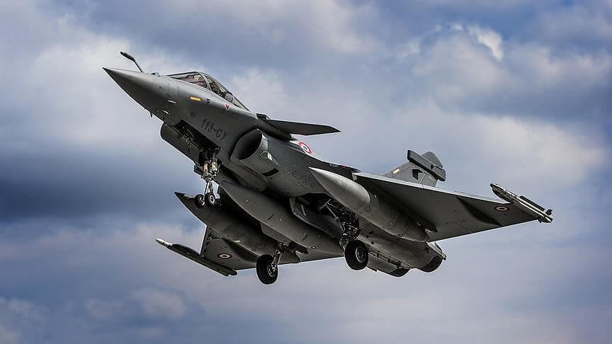 Rafale jets landing today