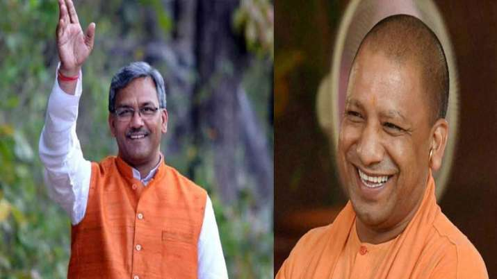 CM yogi and Trivenra singh rawat