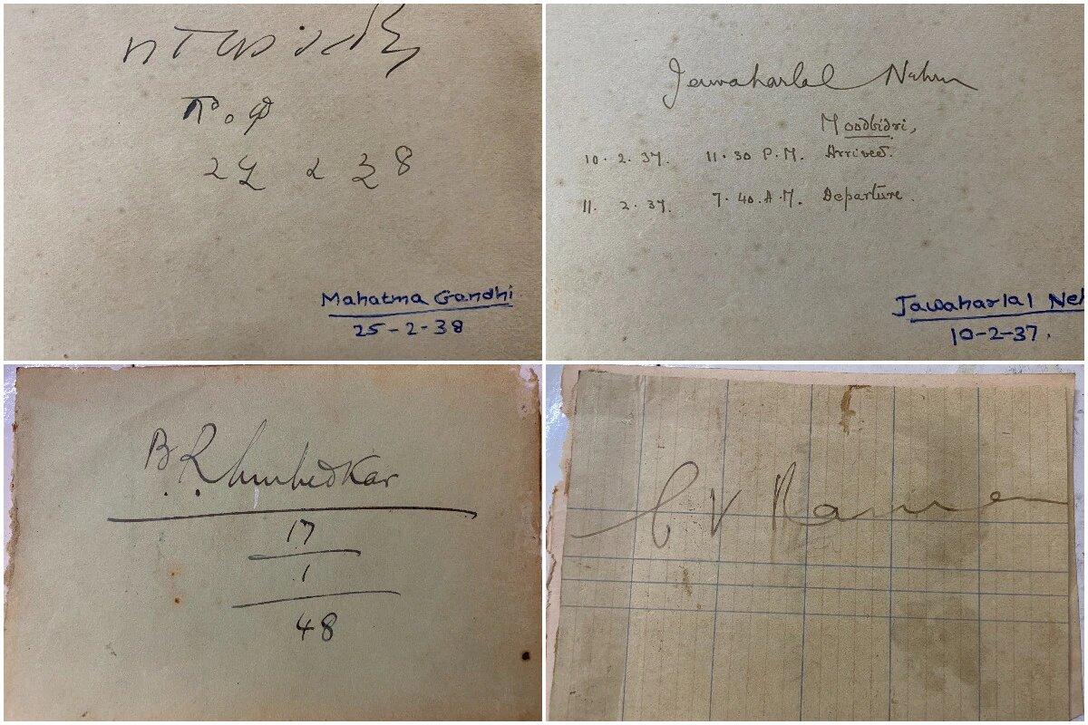 Real Autographs of MK Gandhi, Nehru, BR Ambedkar, CV Raman
