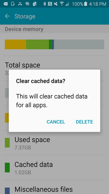 My phone says insufficient storage but I have space