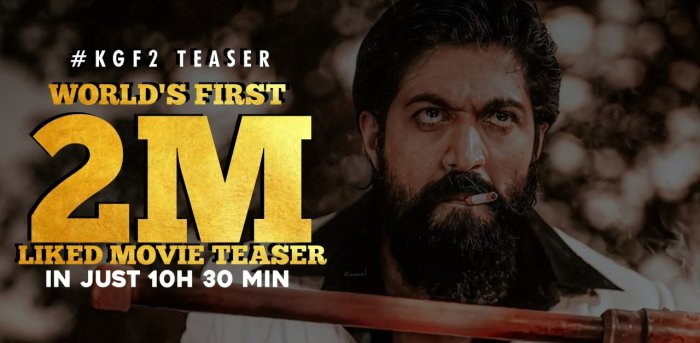 KGF Chapter 2 teaser breaks all-time record