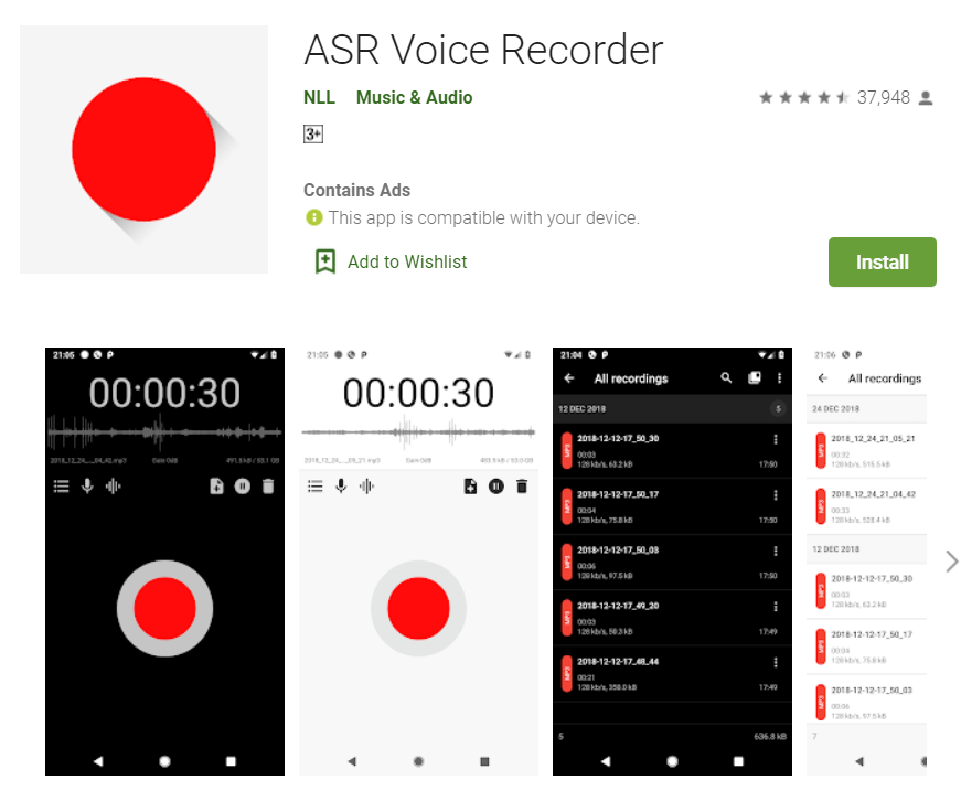 ASR Voice Recorder
