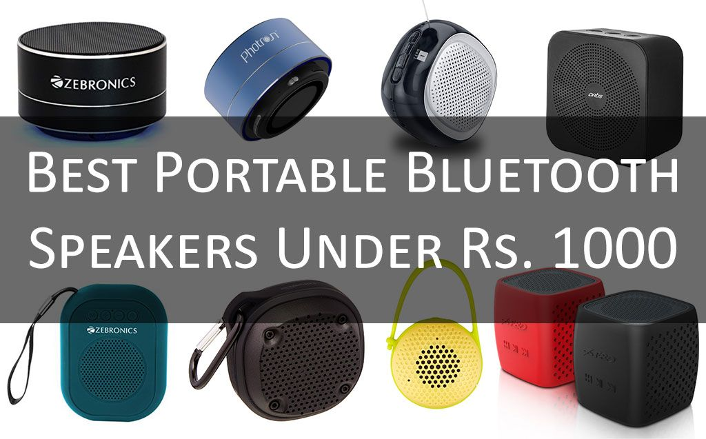 Bluetooth Speakers Under Rs.1000