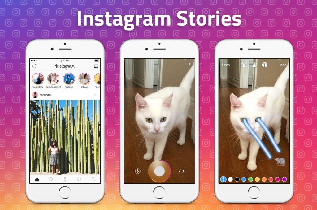 Features of instagram stories