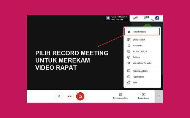 recording on google meet