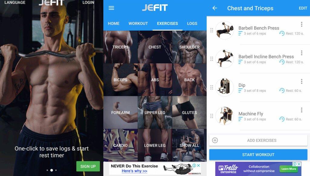 JEFIT Workout Track, Weight Lifting, Gym Log App