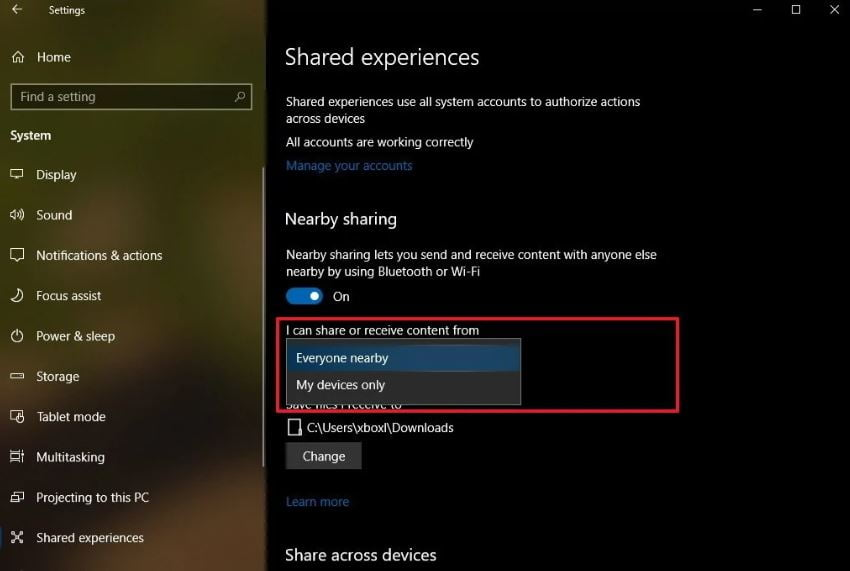 Use Nearby Sharing To Share Files In Windows 10 Seamlessly
