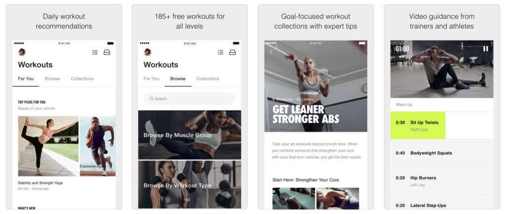 Nike Training Club – Home workouts and fitness plans