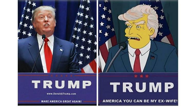 trump presidency simpsons