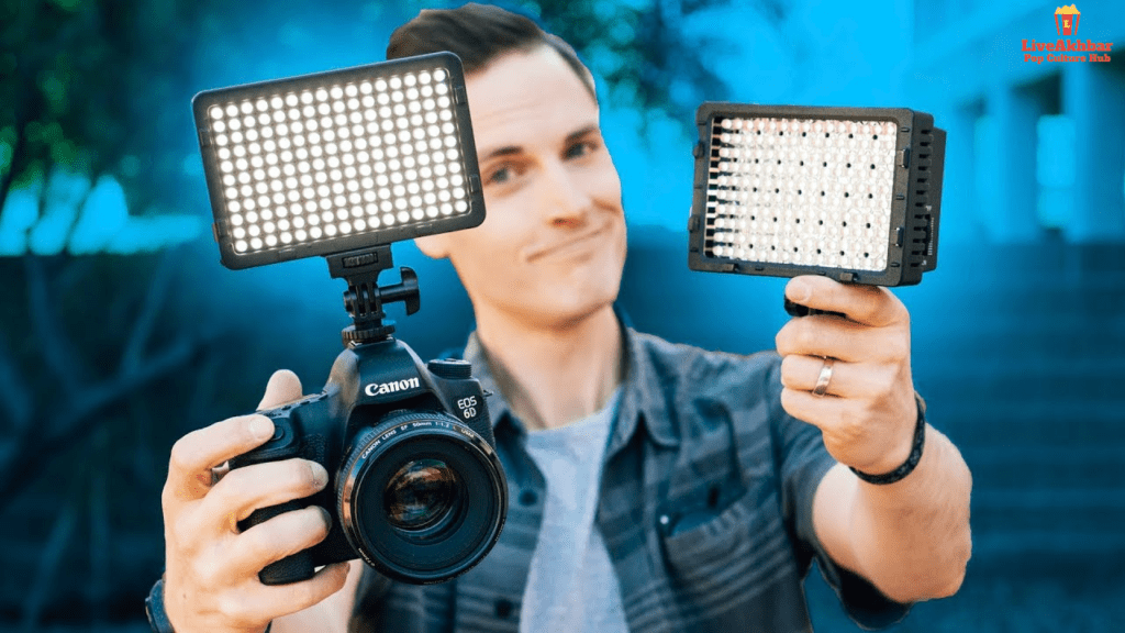 Youtube studio lighting Setup